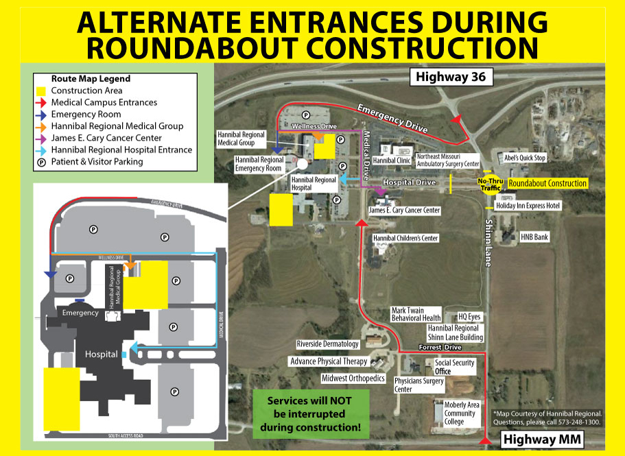 HRMG entrance during construction map